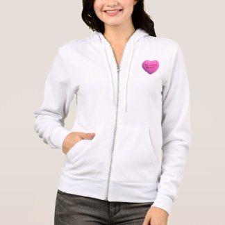 He Loves Me Not Pink Candy Heart Hoodie
