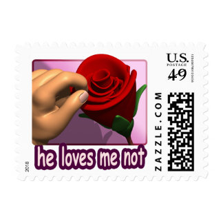 He Loves Me Not Postage