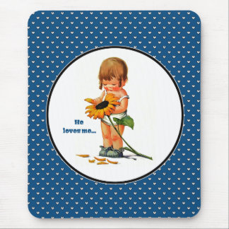 He loves me... Valentine's Day Gift Mousepads