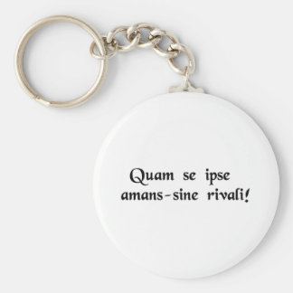 He loving himself so much-without a rival! basic round button keychain