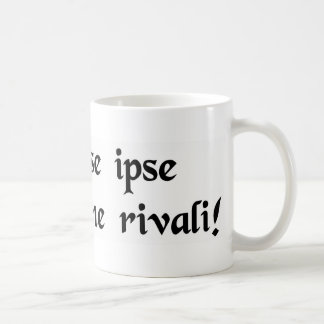 He loving himself so much-without a rival! coffee mug