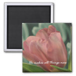 He Makes all Things New Bible Verse 2 Inch Square Magnet