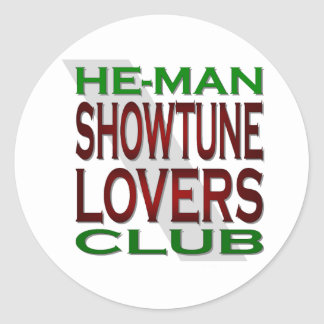 He-Man Showtune Lovers Club Stickers