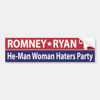 He-Man Woman Haters Party Bumper Stickers