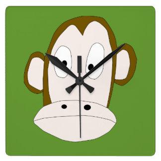 He Monkey Square Clock