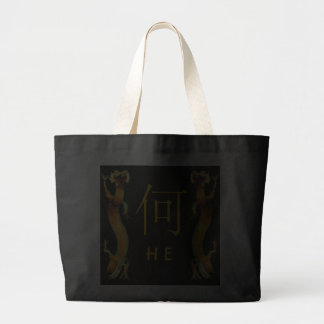 He Monogram Dragon Tote Bag