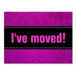 He movido las postales brillo rosado negro y falso