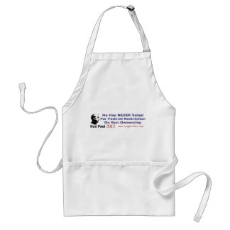 He Never Voted For Restriction on Gun Ownership Adult Apron