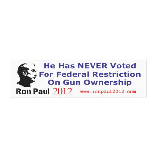 He Never Voted For Restriction on Gun Ownership Canvas Print