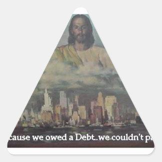 He Paid a Debt Triangle Sticker