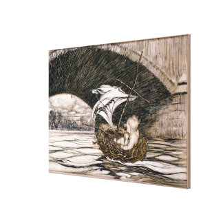'He Passed Under the Bridge and Came Within Full S Canvas Print
