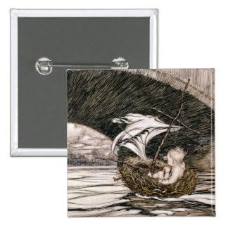 'He Passed Under the Bridge and Came Within Full S Pinback Button