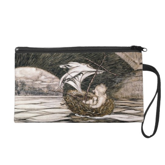 'He Passed Under the Bridge and Came Within Full S Wristlet Purse