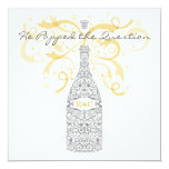 He Popped the Question Champagne Invitation Personalized Announcements