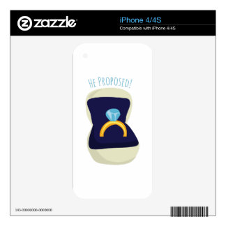He Proposed! Skin For iPhone 4