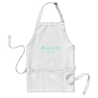 He Put a Ring on It Aprons
