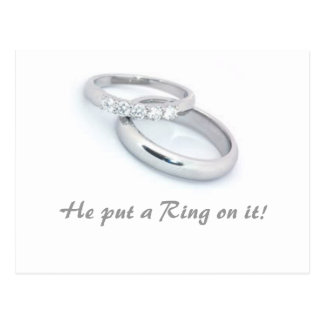 He Put a Ring on It! Postcard