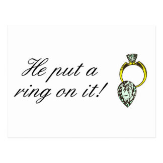 He Put A Ring On It Postcard