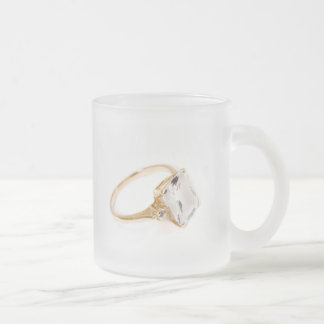 He Put A Ring On It/Save the Date Frosted Glass Coffee Mug