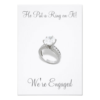 He Put a Ring on It/save the date Invitation