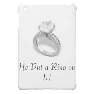 He Put a Ring on It/Save the Date iPad Mini Covers