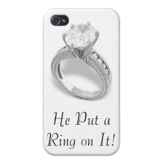 He Put A Ring On It/Save the Date iPhone 4/4S Cases