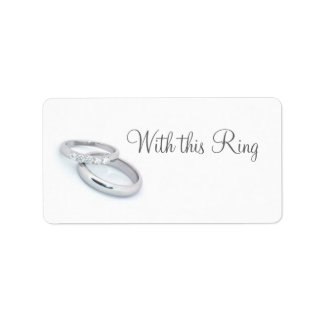 He Put a Ring on It/save the date Label