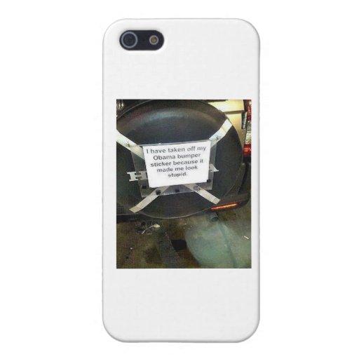 He quitado a mi pegatina para el parachoques de Ba iPhone 5 Protector