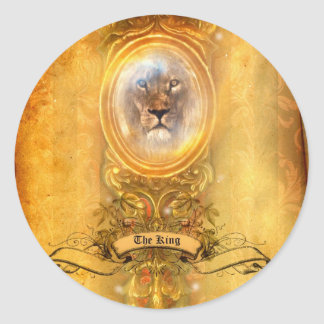 He Reigns Classic Round Sticker