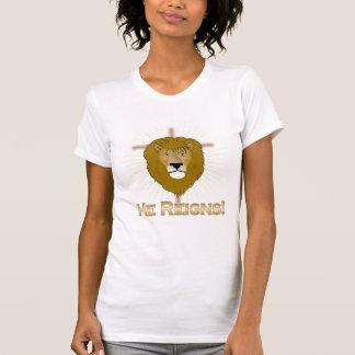 He Reigns Lion of Judah tshirt