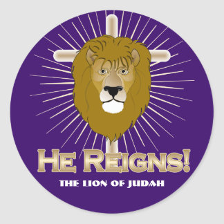 He Reigns! The Lion of Judah STICKERS