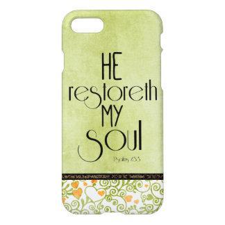 He restoreth my Soul Bible Verse iPhone 8/7 Case