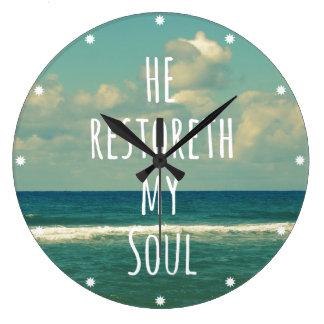 He restoreth my Soul Bible Verse Scripture Clock