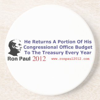 He Returns The Budget Money He Doesn't Use Sandstone Coaster