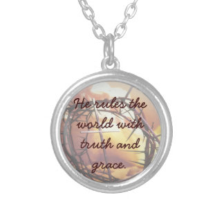 He rules the world with truth and grace Necklace