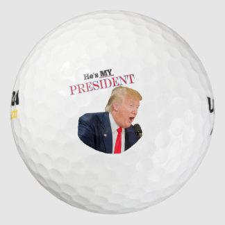 He's My President Donald J. Trump Golf Balls