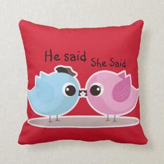 He Said She Said Tweetie Birdie Decorative Pillow