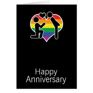 He Said Yes Happy Anniversary Gay Themed Greeting Card