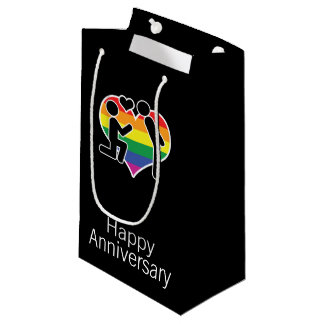 He Said Yes Happy Anniversary Gay Themed Small Gift Bag