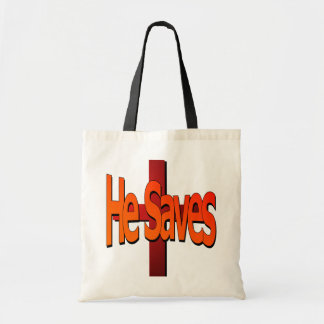 He Saves Budget Tote Canvas Bags