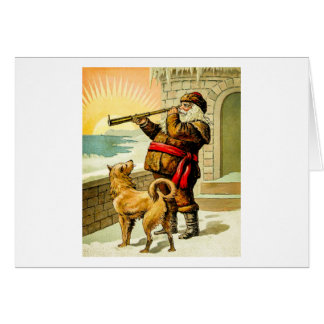He Sees You When You're Sleeping Vintage Santa Card