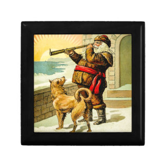 He Sees You When You're Sleeping Vintage Santa Jewelry Box