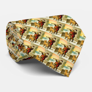 He Sees You When You're Sleeping Vintage Santa Neck Tie