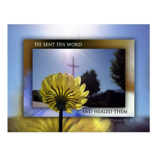 He Sent His Word and Healed Them Postcard