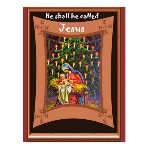 He shall be called jesus post cards