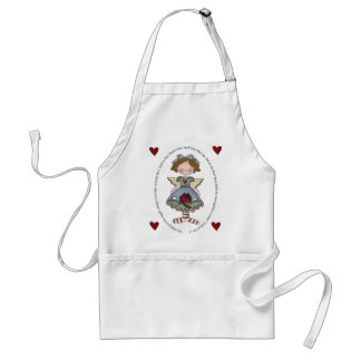 He Shall Give His Angels Charge Over Thee Adult Apron
