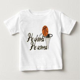 He Shoots...He Scores Baby T-Shirt