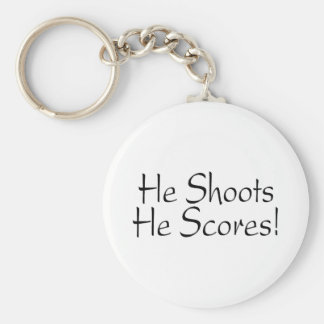 He Shoots He Scores Basic Round Button Keychain