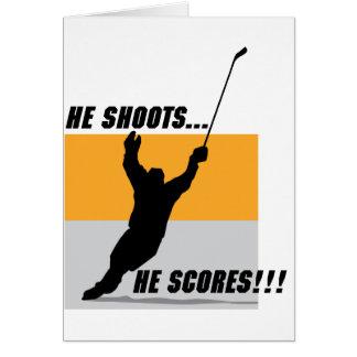 He Shoots....He Scores! Card