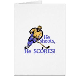 He Shoots He Scores Card